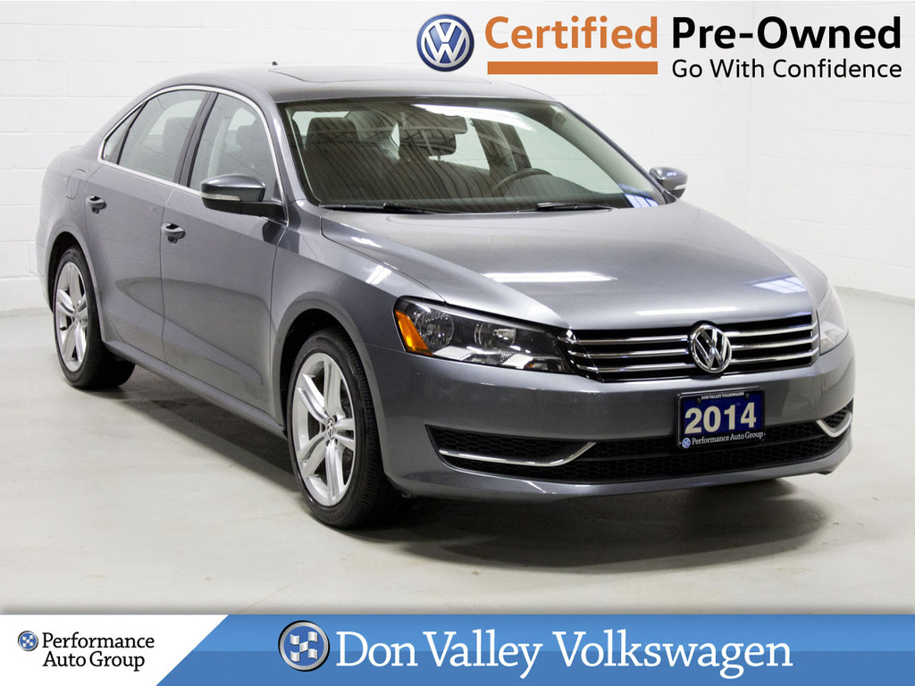 Certified Pre-Owned 2014 Volkswagen Passat 4dr Sdn 1.8 TSI Auto Comfortline ROOF BLUETOOTH