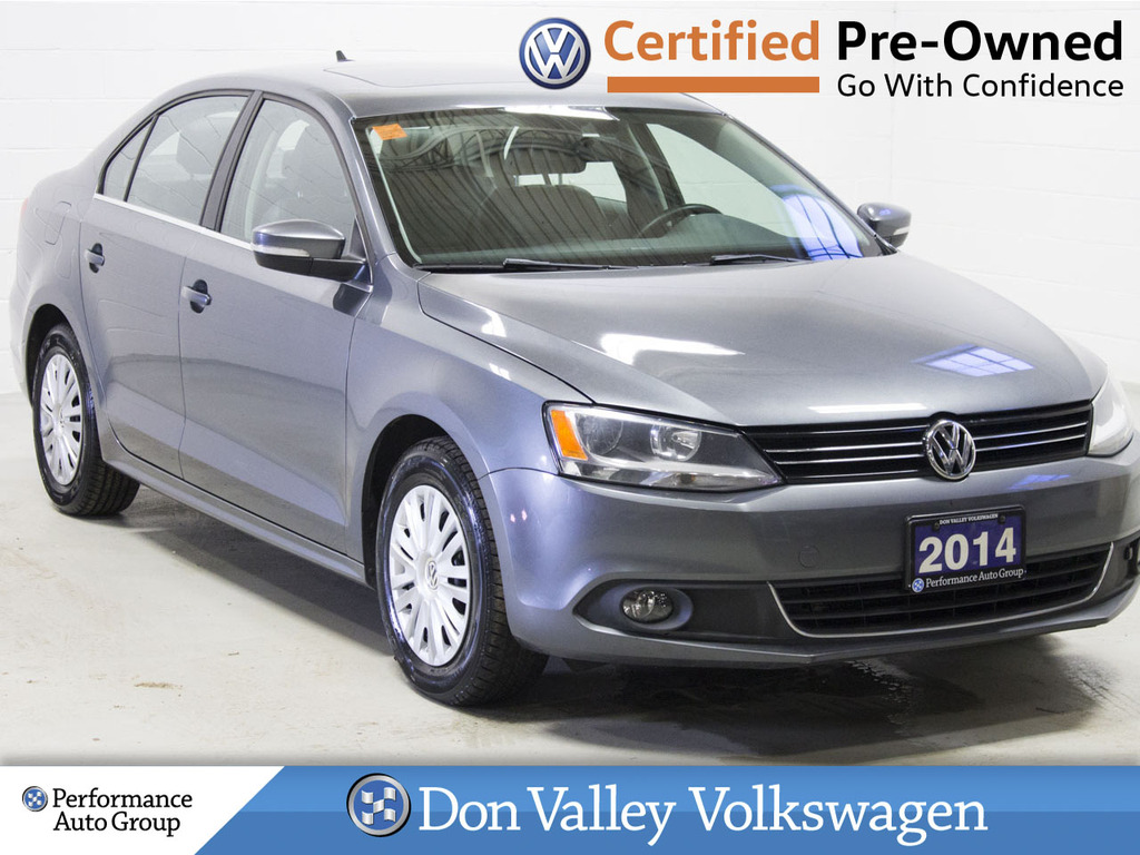 Certified Pre-Owned 2014 Volkswagen Jetta Sedan 4dr 2.0 TDI DSG Highline LOW KM! ROOF LEATHER