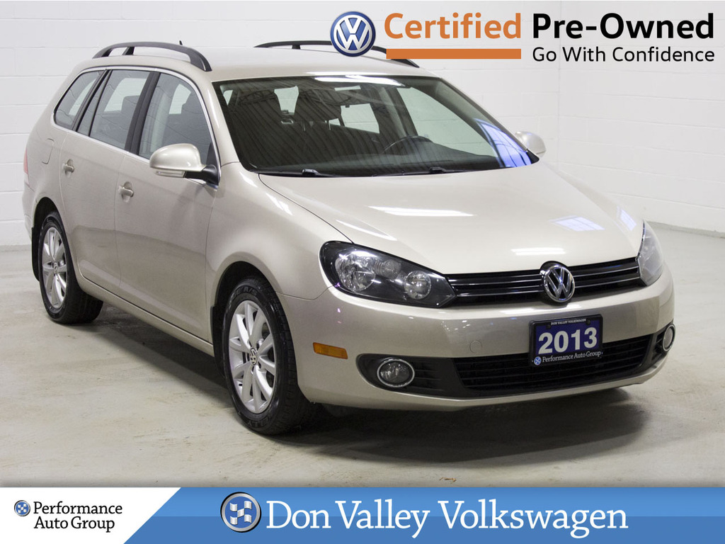 Certified Pre-Owned 2013 Volkswagen Golf Wagon 4dr TDI DSG Comfortline LOW KM GAS SAVER!