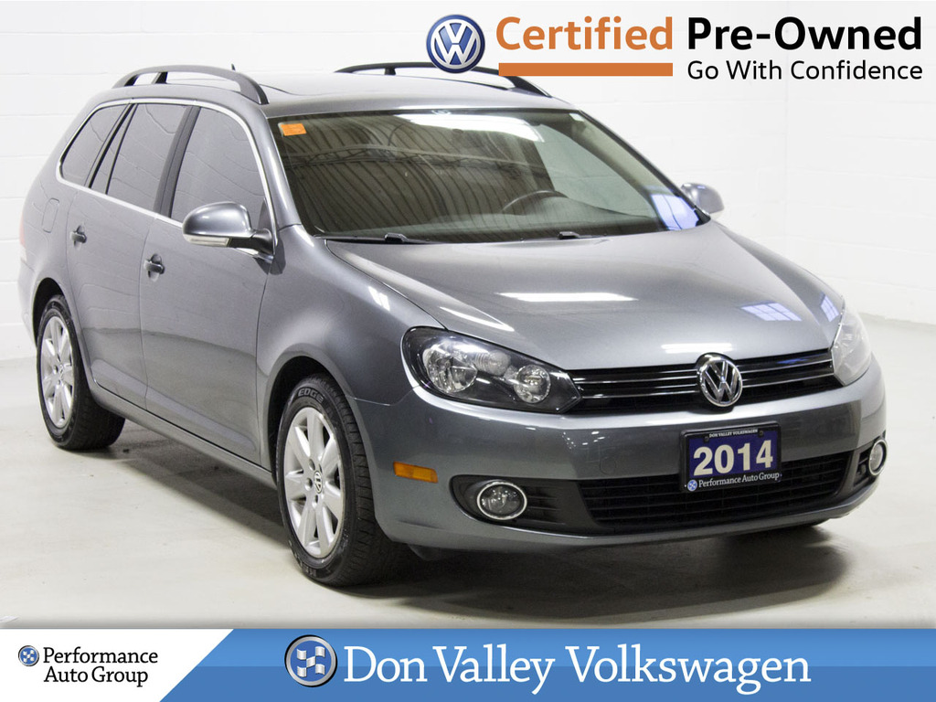 Certified Pre-Owned 2014 Volkswagen Golf Wagon 4dr TDI DSG Comfortline ROOF BLUETOOTH